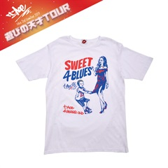予約商品 [遊びの天才 Tour Goods] SWEET 4 BLUES tee(WHT-S)
